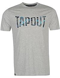 Tapout Herren Camouflage Logo T Shirt Kurzarm Rundhals Baumwolle Print