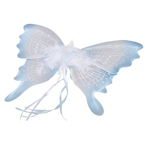 MagiDeal Glitzer Schmetterling Flügel - Feen Kostüm Kinder - (Kostüme Glitzer Feen)