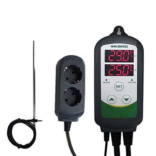 Inkbird ITC-308S Schaltsteckdose Temperature Controller Temperaturregler Relais Steckdose Heizen &...