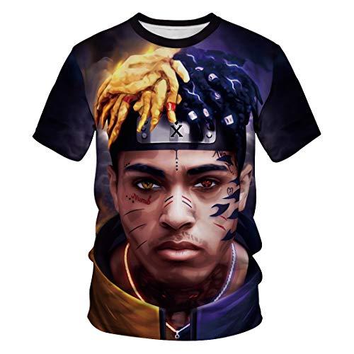 2405b72efd INEEDU Unisex 3D T-Shirt European and American Rappers Lillpeep and XXX  Tentacion Digital Printing