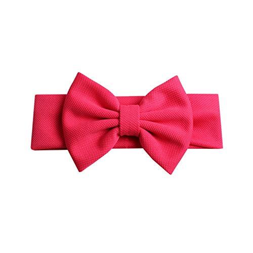 2019 bow fascia nuovo 5 '' capelli per le ragazze chic solid primavera hairband cravatte capelli per capelli fai da te accessori bambini copricapo, rosa caldo