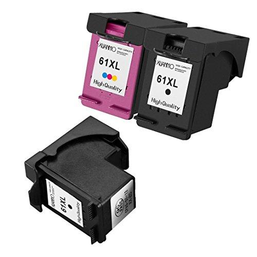Swiftswan cartuccia d'inchiostro 3pcs per hp 61 61xl officejet 4630 2620 deskjet 1000 2000 3000