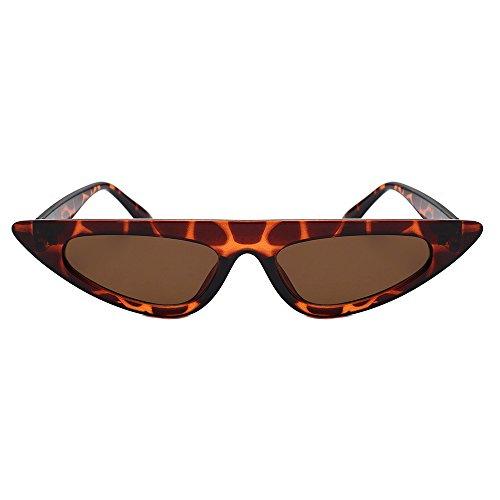 Dorical occhiali da sole vintage, polarizzati protezione uv vogue donna uomo lenti cornice metallica specchio a triangolo individualità alla moda occhiali antiriflesso con