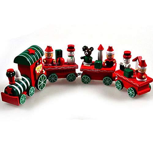e Weihnachts-Dekoration, Weihnachtsmann, Weihnachtsmann, Festival, Dekoration für Kinder, Spielzeug - 1 Lokomotive + 3 Kutschen. Multi ()