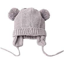 Leey Cappello Cristallo più Grande Pelliccia Invernale di Lana Berretto  delle Signore delle Cappelli Bambina Invernali 4b922ed9f0d4