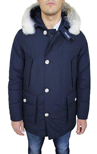 Woolrich arctic parka uomo art. wocps1674 giaccone cordura blu in piuma d'oca (s)