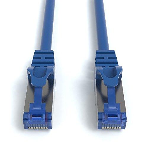 4m CAT.7 Netzwerkkabel (RJ45) Patchkabel Ethernet Lan in blau  10Gbit/s   600MHz   abwärtskompatibel zu CAT.5 / CAT.5e / CAT.6   von JAMEGA