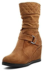 Shuberry Womens Latest Collection, Comfortable & Fashionable Tan Slouch Boots - 37 EU
