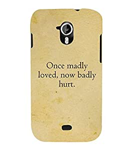 Once Madly loved 3D Hard Polycarbonate Designer Back Case Cover for Micromax Canvas HD A116 :: Micromax Canvas HD Plus A116Q