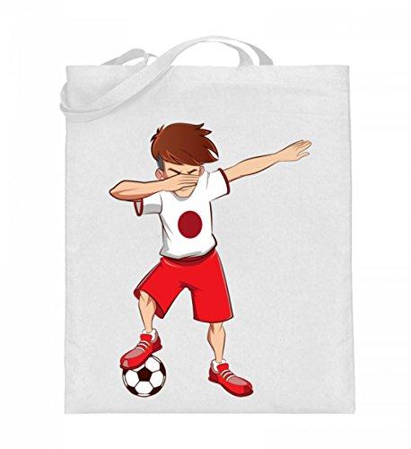 Hochwertiger Jutebeutel (mit langen Henkeln) - Dabbing Fussball Spieler Dab Japan Fan T-Shirt Japanischer Fussballer Geschenk
