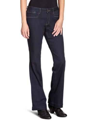 Eddie Bauer Damen Jeans Niedriger Bund, 23117093, Gr. 34/32 (4), Blau (Dark Denim) Pioneer-boot-jean