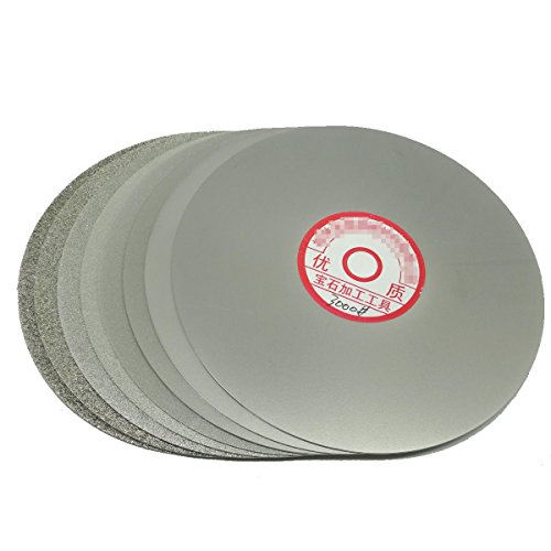 Grit 3000 Diamond coated 6 inch Flat Lap wheel Lapidary lapping polishing disc by YihaoEL (Lap Flat)
