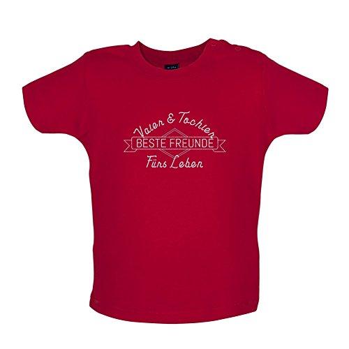 Vater & Tochter - Beste Freunde - Baby T-Shirt - Rot - 12 bis 18 Monate -