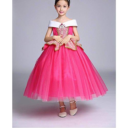 Costume da principessa per festa da bambina. Abito senza maniche