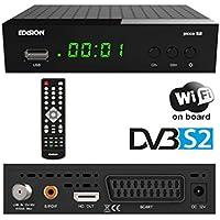 Edision picco S2Full HD Ricevitore satellitare (1X DVB-S2, Wi-Fi, USB, HDMI, Scart, S/PDIF, IR occhio, lettore di schede) nero prezzi su tvhomecinemaprezzi.eu