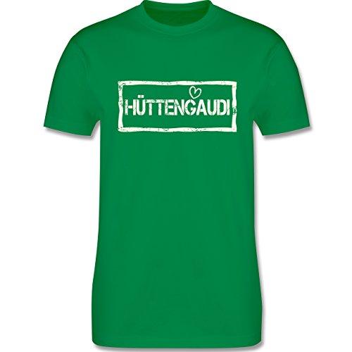 Après Ski - Hüttengaudi Used Look - Herren Premium T-Shirt Grün