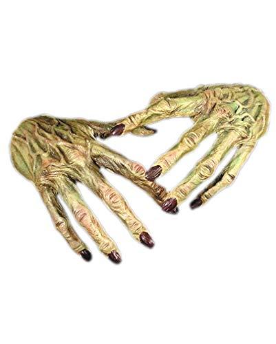 Horror-Shop Monster Hände Handschuhe für Halloween und Fasching