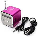 Mini altavoces estéreo portátil Music Player Radio FM Micro SD TF USB disco Rose