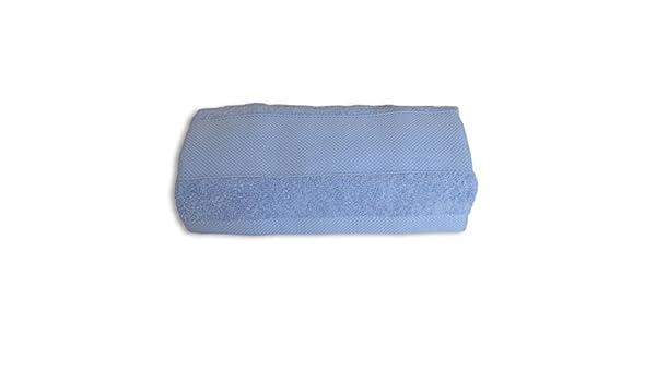 Cotone 50x100 cm Amo la Casa Linea Bagno Spugna Viso Azzurro