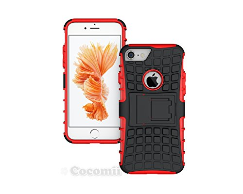 iPhone 8 / iPhone 7 Hülle, Cocomii Grenade Armor NEW [Heavy Duty] Premium Tactical Grip Kickstand Shockproof Hard Bumper Shell [Military Defender] Full Body Dual Layer Rugged Cover Case Schutzhülle Ap Red