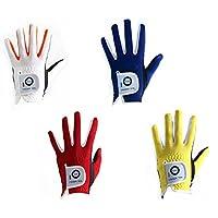 Finger Ten - Lote de 2 guantes de golf para niños, color blanco, azul, rojo o amarillo, color blanco, tamaño Large Right