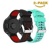 YaYuu Kompatibel Garmin Forerunner 235 Armband, Weiches Silikon Ersatz Uhrenarmbänd Einstellbar Uhrenband für Forerunner 235/220/230/620/630/735XT Smart Watch