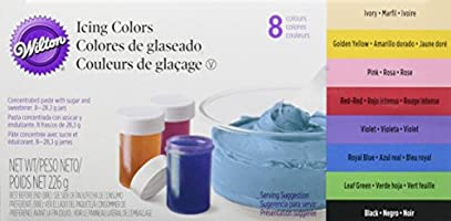 Wilton Kit Colorants Alimentaires Gel 8 Pots 28.3 g (226.4g)