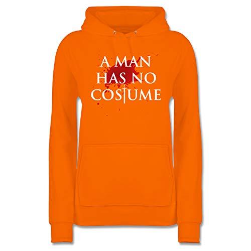 Karneval & Fasching - A Man Has No Costume Kostüm - XL - Orange - JH001F - Damen Hoodie