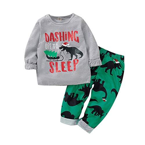 Sunnywill Baby Neugeborenes Bekleidungssets Outfits Herbst Warm Jumpsuit Kleinkind Jungen Weihnachtskarikatur Sweatshirt Dinosaurier (Neugeborenen Dinosaurier Kostüm)