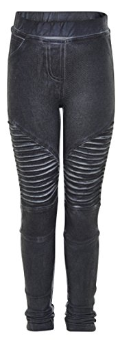 MUST HAVE coole Jeggins im Biker Stil in Anthrazit Skinny Fit von MINYMO 140650 Size 104