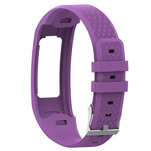 zu ersetzen smart Watch Sport silikon Armband Armband Schnalle für Garmin vivofit 1 vivofit 2 (Lila) ()