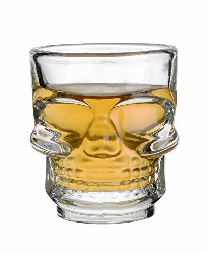 4 Skull occhiali Pirate Skull Skull liquore di vetro-vetro caraffa bicchiere di whisky Shot Glass Da Slkfactory