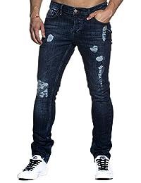 Tazzio 1001 Jean slim aspect usé stretch denim pour homme