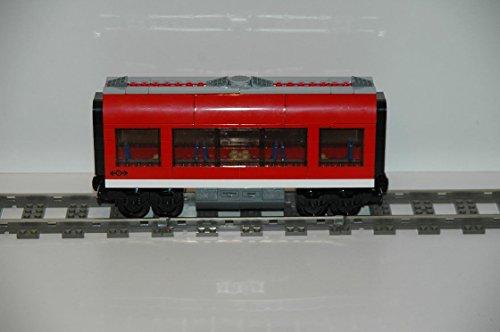 Preisvergleich Produktbild Gebrauchte Bausteine Ersatz für Lego System Lego 9V + RC Eisenbahn Train 7938 Ice Waggon Passagierzug Mitte Wagon KOMPATIBEL MIT Lego 9V + RC System