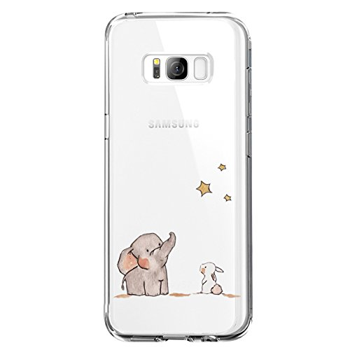 JEPER Kompatibel für Galaxy S8 Hülle, S8 Handyhüllen Crystal Clear Ultra Dünn Flexibel Silikon Case Transparent Premium TPU Weiche Schutzhülle Slimcase Tasche für Galaxy S9 (S8, 08) 8 Taste Display