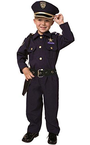 Dress Up America Deluxe Police Dress Up Kostüm Set - enthält Hemd, Hose, Hut, Gürtel, Pfeife, (Deluxe Polizist Kostüme)