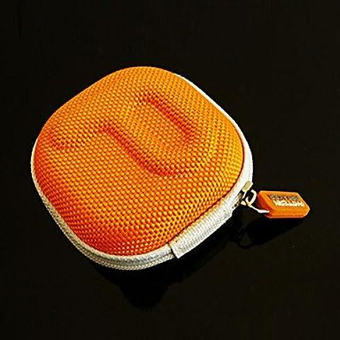Piteng?decoder via cavo scatola auricolare disposizione sd card pacchetto auricolare pb , Orange