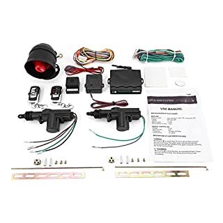 Nowakk Universal Fahrzeug Fernbedienung Zentralverriegelung Keyless Entry System 2 Auto Tür Fernbedienung Zentralverriegelung Kit + Diebstahlwarnanlage Tool Set