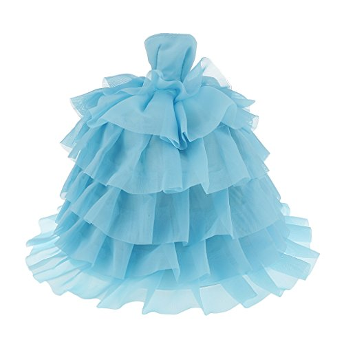 Magideal Stunning Sky-Blue Party Wedding Lace Dress Gown for Barbie Doll  available at amazon for Rs.355