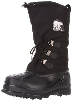 Sorel  Glacier, Bottes à enfiler #510 homme - Noir - Schwarz (Black 010), 47 EU
