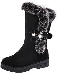 Stiefel damen Kolylong® Hot Sale! Frauen Elegant Plüsch Knöchel Stiefel  Herbst Winter Warme Stiefel flach Mode… f2d310ca14