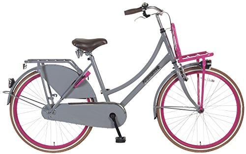 26 Zoll Popal Daily Dutch Basic TR26 Damen Holland Fahrrad, Farbe:grau-pink