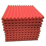 Pwtchenty 10pcs Pannelli Fonoassorbenti Piramidali Pannello Insonorizzazione Acustico Piramidale 30x30x2.5cm