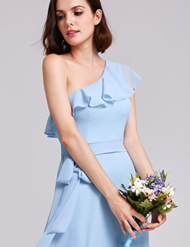 Ever Pretty Damen Elegant Lang Brautjungfern Kleid 07201 D Blau