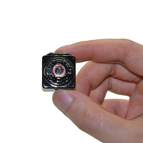 Mengshen Full HD 1080P 30fps Pocket Digital Video Recorder Kamera Camcorder Ultra-Mini Metall DV Support Motion Erkennung mit IR Nachtsicht MS-SQ8Black