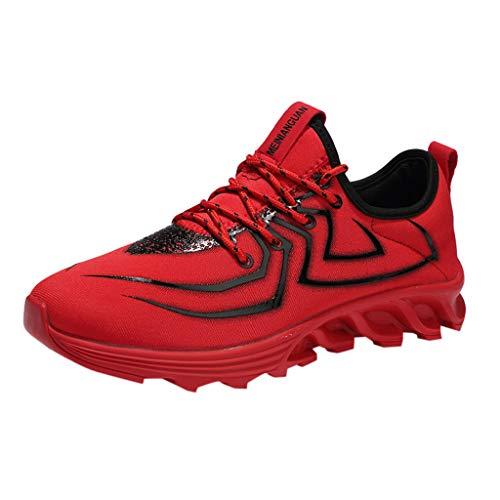 Floweworld Damen Outdoor Sportschuhe Mode Persönlichkeit Schnürschuhe Leichte atmungsaktive Turnschuhe Laufen Joggen Sportschuhe Paar Schuhe