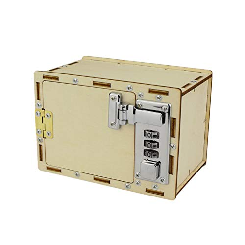 Toyvian Kits de Modelo DIY Caja de contraseña mecánica Caja de Rompecabezas 3D Educación e ingeniería...