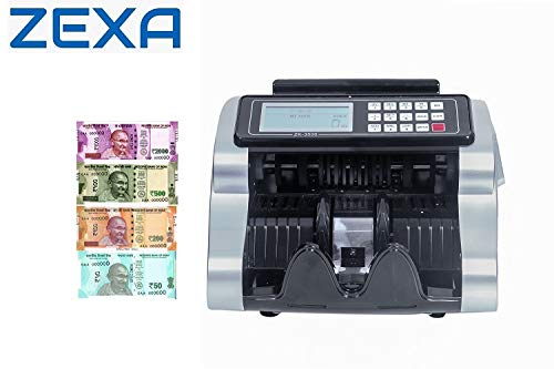 ZEXA LCD Display Money Bill Counter Counting Machine Note Counting Machine (Counting Speed - 1000 Notes/min)