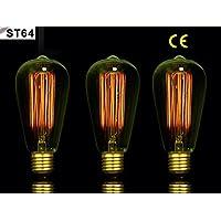 OOFAY LIGHT® 3pezzi Retro Edison Lampade a incandescenza e27ST64dimmerabile tungsteno della lampada nostalgia retrò stile industriale illuminazione energia a + + + Classe Antico 40W