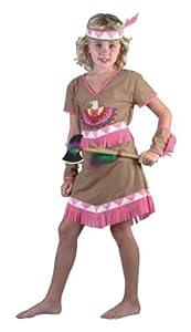 Humatt Perkins 51555 - Disfraz de india para niña, talla M/ 7-10 años (altura 120-130 cm)